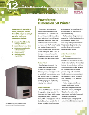 Powerbrace Dimension 3d Printer