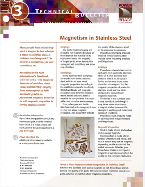 Magnetism in Stainless Steel