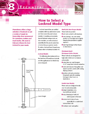 How To Select A Lockrod Model Type