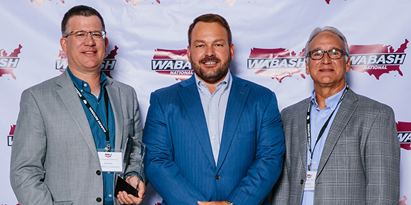 Wabash, Platinum Award, Suppliers, Annual Conference, Brian Senn, Graig Hinke, Powerbrace, Brent Yeagy, Door Securement, Lockrod, Truck Hardware